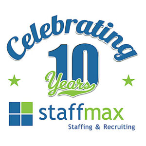 Staffmax 10th Anniversary Logo